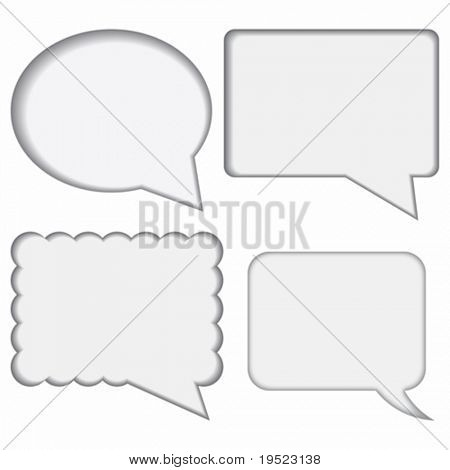 dialogue boxes on white background