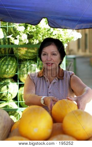 Mature Woman At The Marketplace