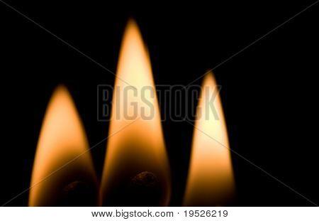 three flames - macro