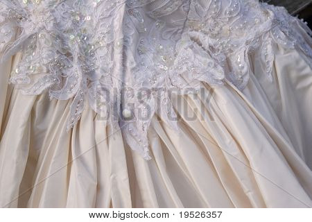 silk taffeta wedding dress - back detail