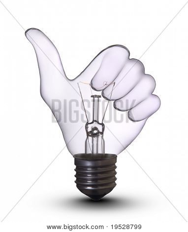 OK Hand Lampe Birne