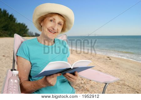 Summer Reading At Beach