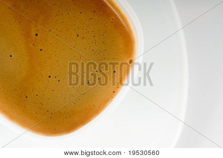 white coffee cup with plate closeup
