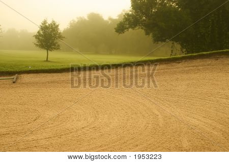 Golf Course In Fog