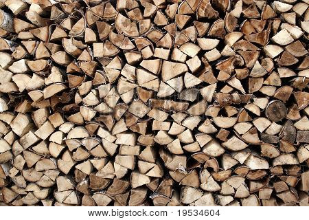 Background with heap of firewood
