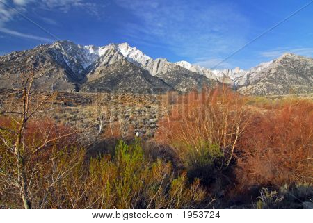 Snow At Mount Whitney In California