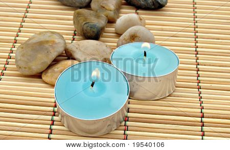 Two inmates candles