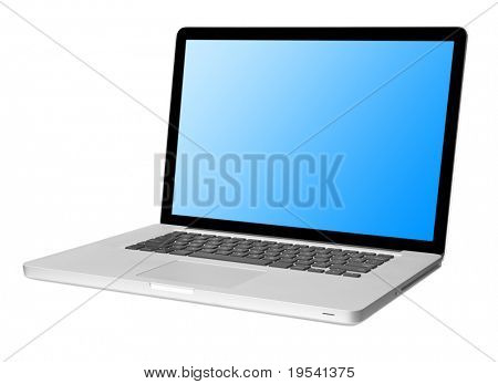 moderne Laptop, isolated on White mit Schatten