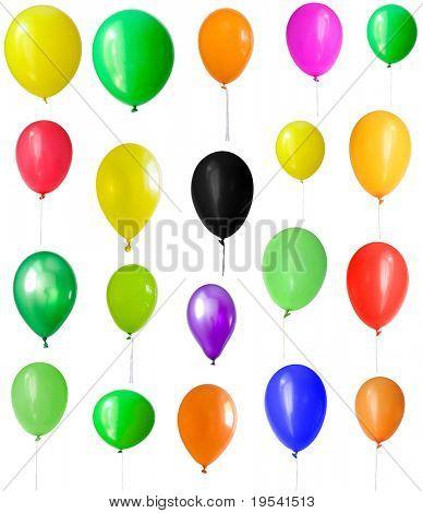 Aufblasbaren Ballon, Foto auf dem weißen Hintergrund