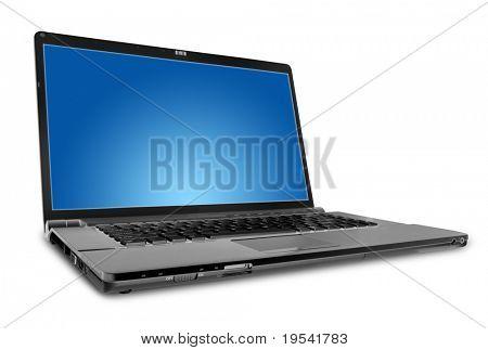 moderne Laptop auf der weißen