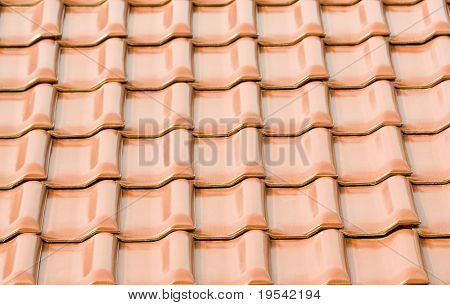 backgrounds with red roof of the tile