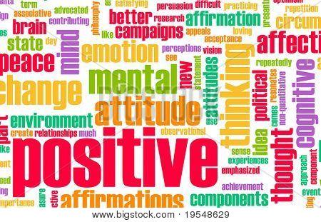 Pensando positivo como um conceito abstrato de atitude