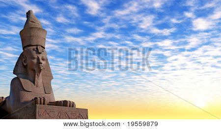 Antike ägyptische Sphinx am Kai des Flusses. Sankt-Petersburg, Russland