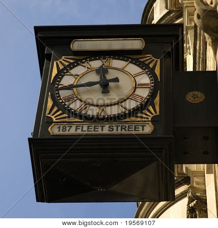 Antique clock, Fleet Street London