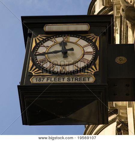 Antique clock, Fleet Street London
