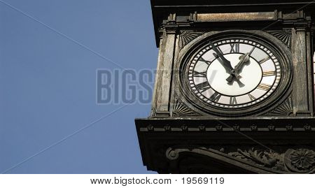 Antique clock in Regent Street London with room for text