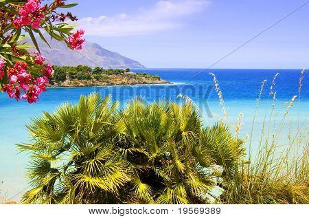 Beautiful tropical ocean view