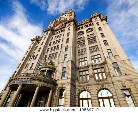 The famous Royal Liver building, Liverpool