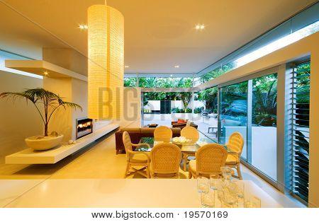A modern, designer house - with inside/outside living