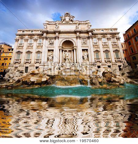 Die berühmten Trevi-Brunnen, Rom, Italien