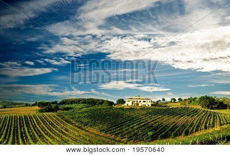 Schöne Weingut Panorama in Italien...