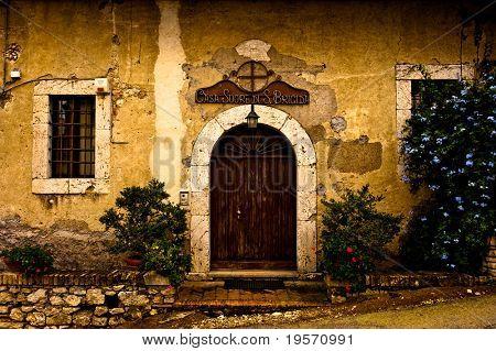 old rustic italian building
