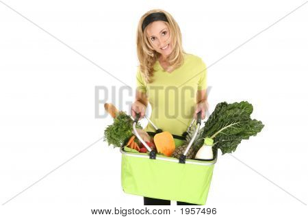 Shopping Bag Full Of Groceries
