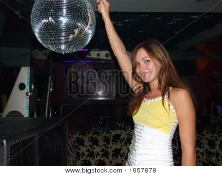 The Nice Girl Dances In A Night Club