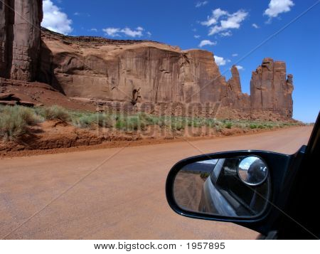 Rock Formations In  Monument Valley Utah