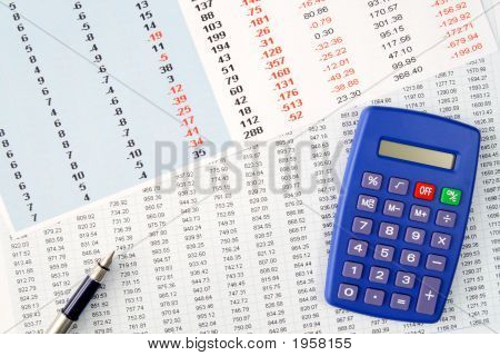 Reviewing Financial Numbers On A Spreadsheet.