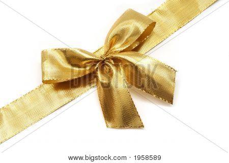 Arco y cinta de oro