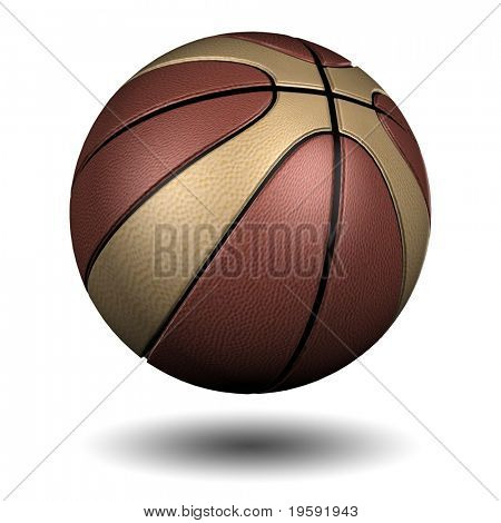 High resolution basketball isolated on white background
