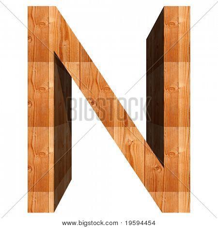 Alta resolución conceptual 3D madera fuente aislado sobre fondo blanco