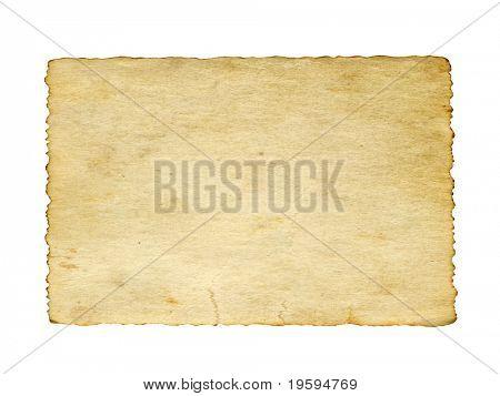 Antiguo fondo de vintage de papel de alta resolución que aislado en blanco