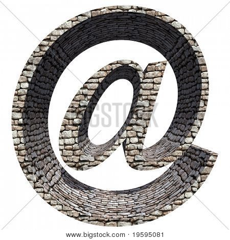 High resolution stone symbol isolated on white background