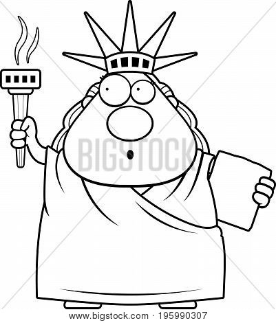 surprised cartoon statue of liberty