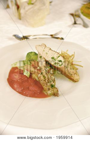 Lomito De Cerdo En Salsa De Fresa 2