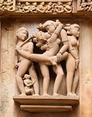stock photo of kamasutra  - Temples at Khajuraho - JPG