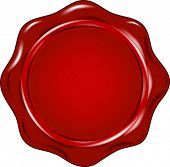 foto of wax seal  - vector wax seal - JPG