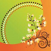 Постер, плакат: Абстрактный цветочный фон Оранжевый