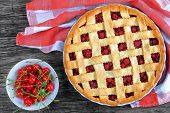 Cherry Pie With Pretty Lattice Top poster