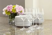 picture of flower arrangement  - glasses - JPG