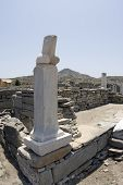 picture of phallus  - phallus at chapel of dionysos delos island greece - JPG