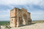 Ancient Arch In Volubilis poster