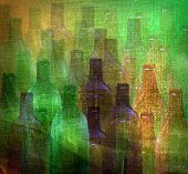 stock photo of liquor bottle  - bottle pattern  - JPG