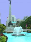 Monument And Fountain. poster