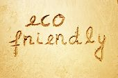 Eco friendly handwritten in sand for natural, symbol,tourism or conceptual designs