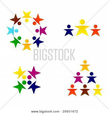 Business Abstract People Team Or Crowd Isolated On White