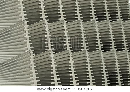 Abstract Close Up Of Heat Sinks