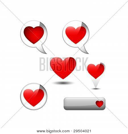 elementos de la web con corazón